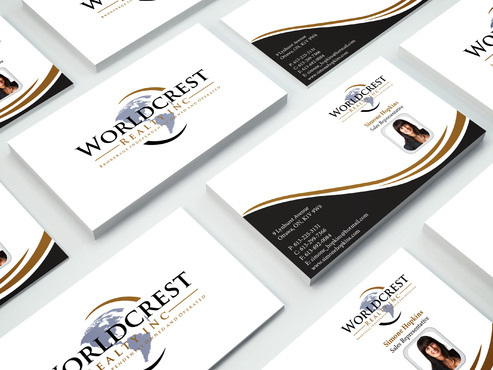Worldcrest Realty - Brokerage Independently Owned and Operated Business Cards and Stationery  Draft # 104 by i3designer