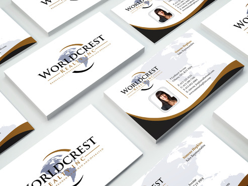 Worldcrest Realty - Brokerage Independently Owned and Operated Business Cards and Stationery  Draft # 105 by i3designer