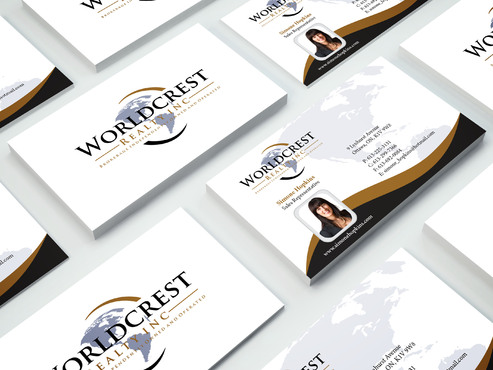 Worldcrest Realty - Brokerage Independently Owned and Operated Business Cards and Stationery  Draft # 106 by i3designer
