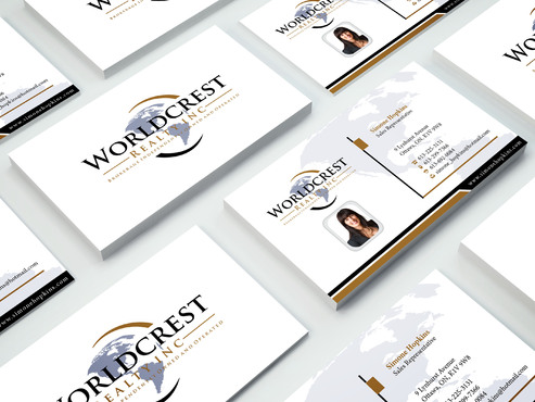 Worldcrest Realty - Brokerage Independently Owned and Operated Business Cards and Stationery  Draft # 109 by i3designer