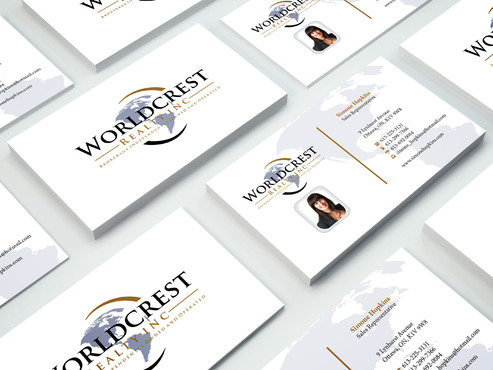 Worldcrest Realty - Brokerage Independently Owned and Operated Business Cards and Stationery  Draft # 110 by i3designer