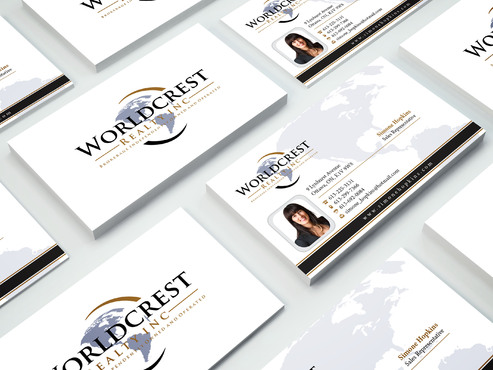 Worldcrest Realty - Brokerage Independently Owned and Operated Business Cards and Stationery  Draft # 111 by i3designer