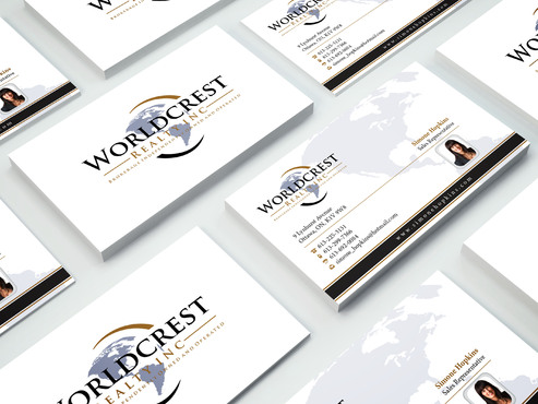 Worldcrest Realty - Brokerage Independently Owned and Operated Business Cards and Stationery  Draft # 114 by i3designer