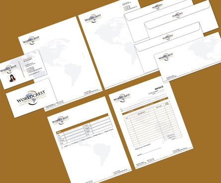 Worldcrest Realty - Brokerage Independently Owned and Operated Business Cards and Stationery  Draft # 129 by i3designer