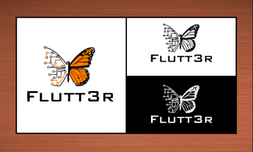 Flutt3r  A Logo, Monogram, or Icon  Draft # 10 by vector