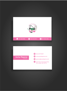 Poop B Gone, LLC. Business Cards and Stationery  Draft # 106 by glassfairy