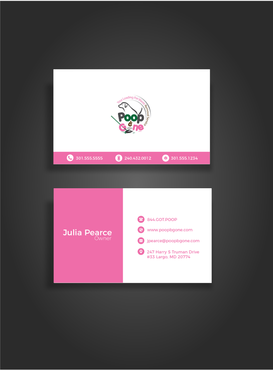 Poop B Gone, LLC. Business Cards and Stationery  Draft # 107 by glassfairy