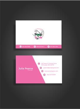 Poop B Gone, LLC. Business Cards and Stationery  Draft # 108 by glassfairy