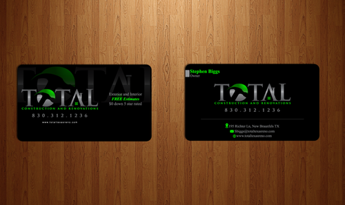 TOTAL Construction & Renovations  Business Cards and Stationery  Draft # 247 by Chlong2x