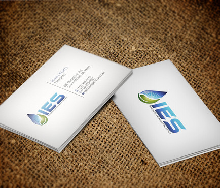 Use the provided Logo.  The name of the company is Integrated Environmental Services or IES Business Cards and Stationery  Draft # 87 by skyscraper