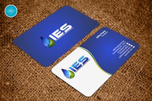 Use the provided Logo.  The name of the company is Integrated Environmental Services or IES Business Cards and Stationery  Draft # 134 by aheadpoint