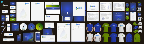 Use the provided Logo.  The name of the company is Integrated Environmental Services or IES Business Cards and Stationery Winning Design by aheadpoint
