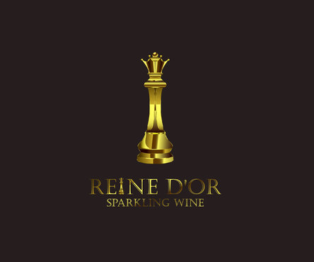 Reine D'Or Sparkling Wine A Logo, Monogram, or Icon  Draft # 36 by Designeye