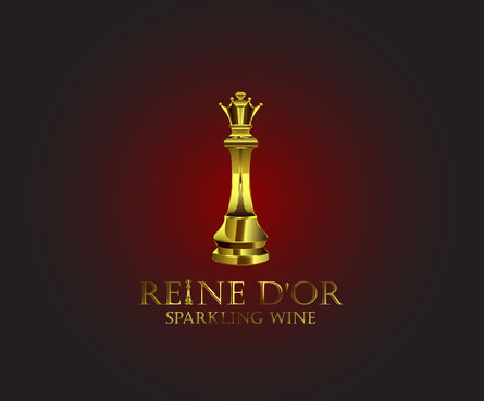 Reine D'Or Sparkling Wine A Logo, Monogram, or Icon  Draft # 42 by Designeye