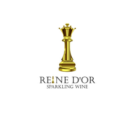 Reine D'Or Sparkling Wine A Logo, Monogram, or Icon  Draft # 59 by Designeye
