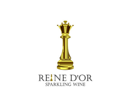 Reine D'Or Sparkling Wine A Logo, Monogram, or Icon  Draft # 61 by Designeye