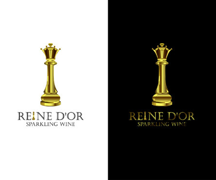 Reine D'Or Sparkling Wine A Logo, Monogram, or Icon  Draft # 62 by Designeye