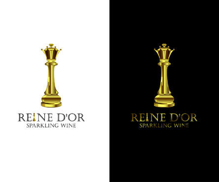 Reine D'Or Sparkling Wine A Logo, Monogram, or Icon  Draft # 64 by Designeye