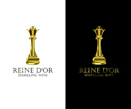 Reine D'Or Sparkling Wine A Logo, Monogram, or Icon  Draft # 65 by Designeye