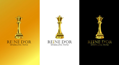 Reine D'Or Sparkling Wine A Logo, Monogram, or Icon  Draft # 72 by Designeye