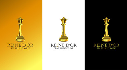 Reine D'Or Sparkling Wine A Logo, Monogram, or Icon  Draft # 73 by Designeye