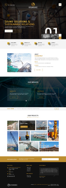 Steadfast Engineering and Construction Complete Web Design Solution Winning Design by FuturisticDesign