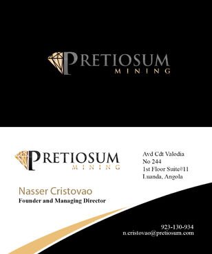 PRETIOSUM MINING Business Cards and Stationery  Draft # 148 by JohnnyLan