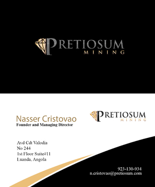 PRETIOSUM MINING Business Cards and Stationery  Draft # 149 by JohnnyLan