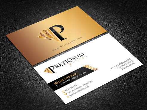 PRETIOSUM MINING Business Cards and Stationery Winning Design by einsanimation