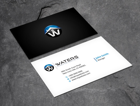 Waters General Contracting Inc. Business Cards and Stationery  Draft # 3 by Xpert