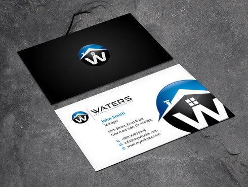 Waters General Contracting Inc. Business Cards and Stationery  Draft # 4 by Xpert