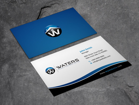 Waters General Contracting Inc. Business Cards and Stationery  Draft # 8 by Xpert