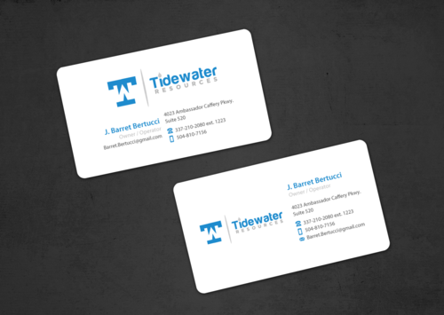 Tidewater Resources, L.L.C. Business Cards and Stationery Winning Design by einsanimation