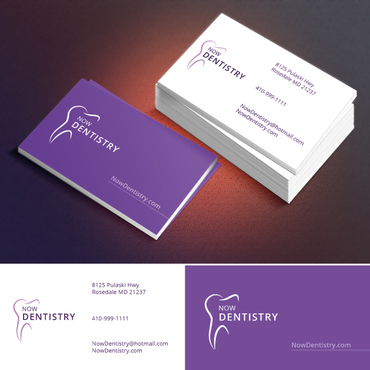 Now Dentistry Business Cards and Stationery  Draft # 208 by khandesign0610