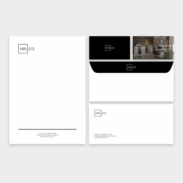 Office Furniture Company Business Cards and Stationery  Draft # 135 by veloz