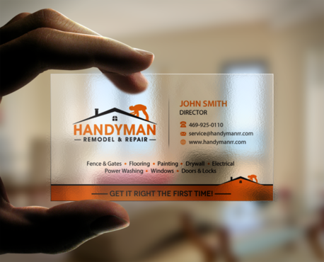 Handyman Remodel & Repair Business Cards and Stationery Winning Design by einsanimation