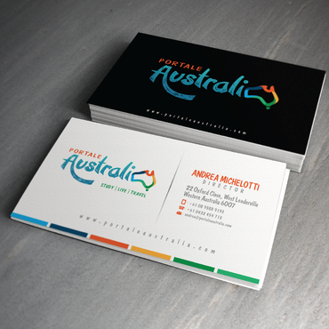 Portale Australia Business Cards and Stationery  Draft # 45 by zephyr