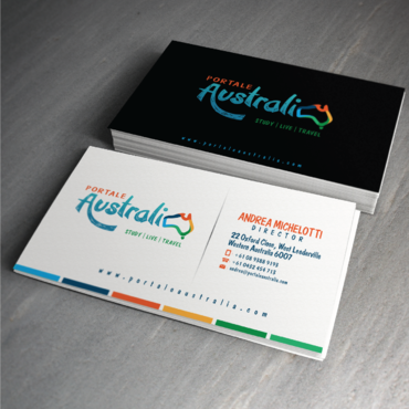 Portale Australia Business Cards and Stationery  Draft # 79 by zephyr