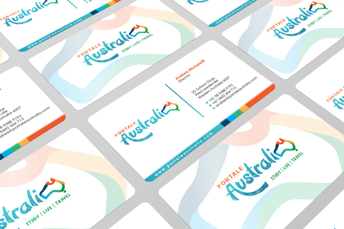 Portale Australia Business Cards and Stationery  Draft # 104 by i3designer