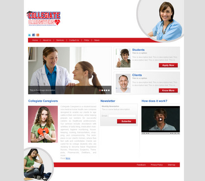 Collegiate Caregivers Web Design  Draft # 5 by anindya