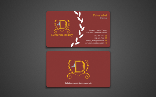 Demerara Bakery Business Cards and Stationery Winning Design by einsanimation