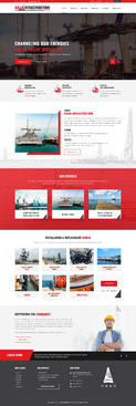 Design by FuturisticDesign For Website for a Marine Civil Engineering Company