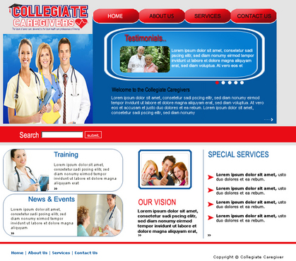 Collegiate Caregivers Web Design  Draft # 9 by Pommpomm