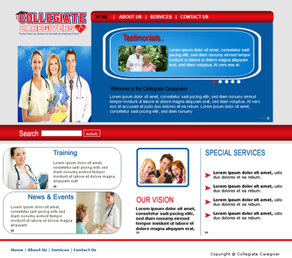 Collegiate Caregivers Web Design  Draft # 12 by Pommpomm