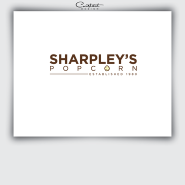 Sharpley's Popcorn A Logo, Monogram, or Icon  Draft # 11 by constantDESIGNS