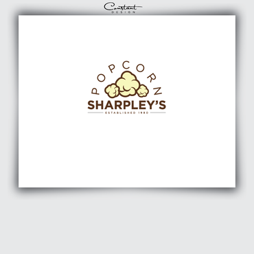 Sharpley's Popcorn A Logo, Monogram, or Icon  Draft # 12 by constantDESIGNS