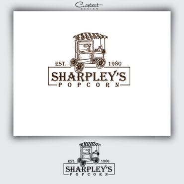 Sharpley's Popcorn A Logo, Monogram, or Icon  Draft # 15 by constantDESIGNS