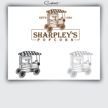 Sharpley's Popcorn A Logo, Monogram, or Icon  Draft # 16 by constantDESIGNS