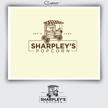 Sharpley's Popcorn A Logo, Monogram, or Icon  Draft # 18 by constantDESIGNS