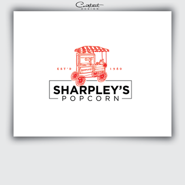 Sharpley's Popcorn A Logo, Monogram, or Icon  Draft # 19 by constantDESIGNS